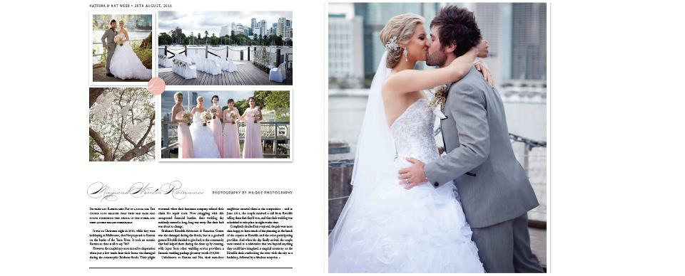 QLD Brides feature on the Riverlife Ultimate Dream Wedding: Images Milque Photography