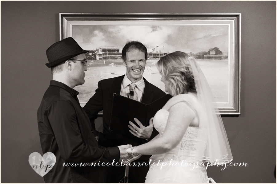 Wedding at the Gabba with Brisbane Celebrant Jamie Eastgate. Image Nicole Barralet Photography