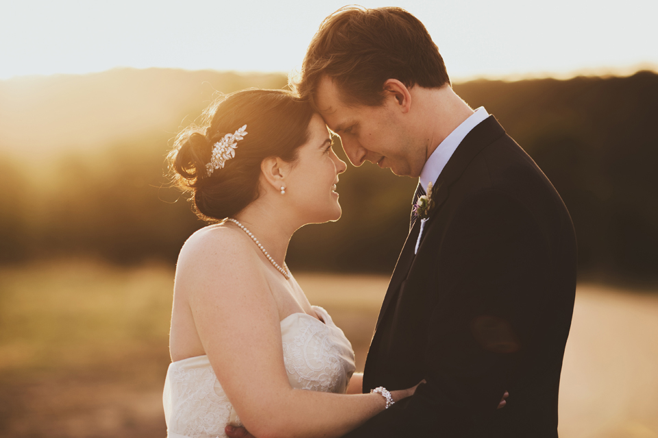 Sunset Wedding Photos by Leah Cruikshank Photography