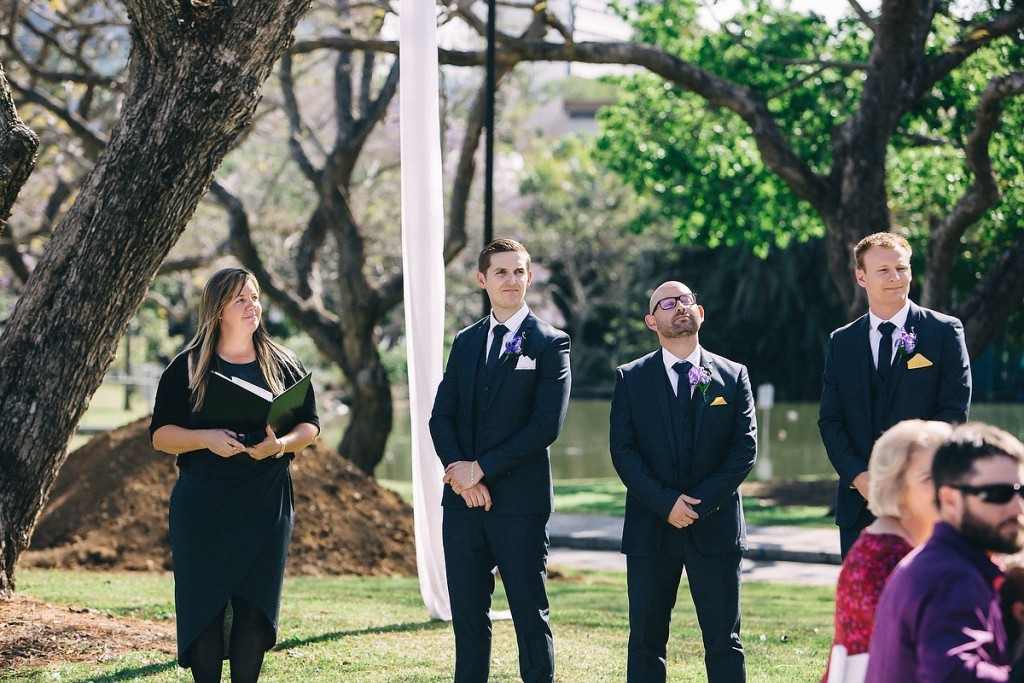 UQ Rugby field wedding ceremonyUQ Rugby field wedding ceremony