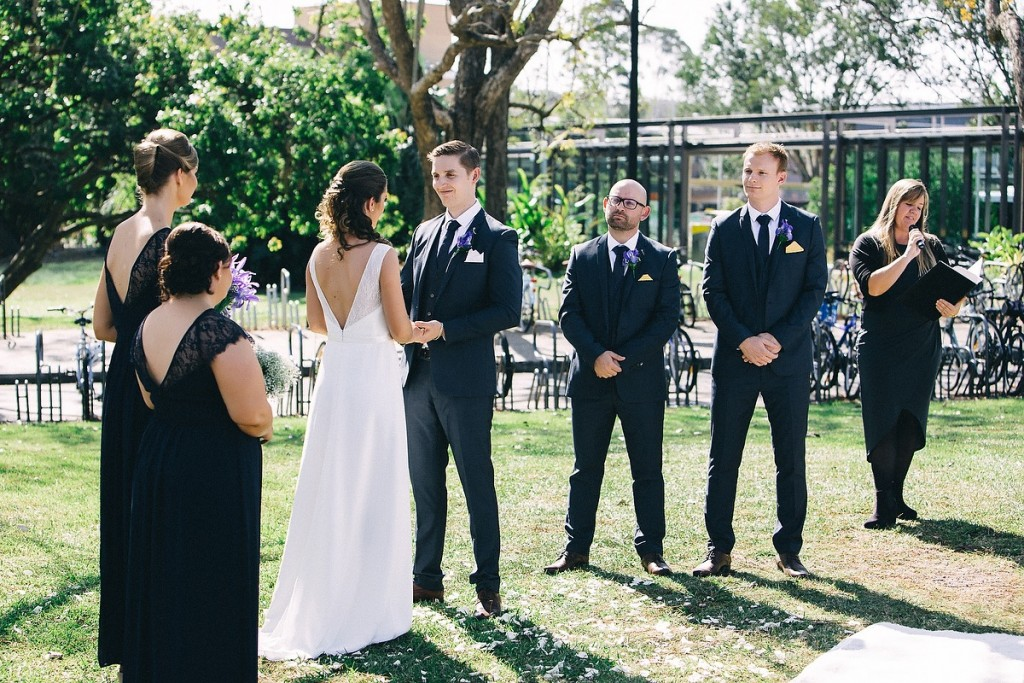 UQ Rugby field wedding ceremony with Brisbane Celebrant Ciara Hodge