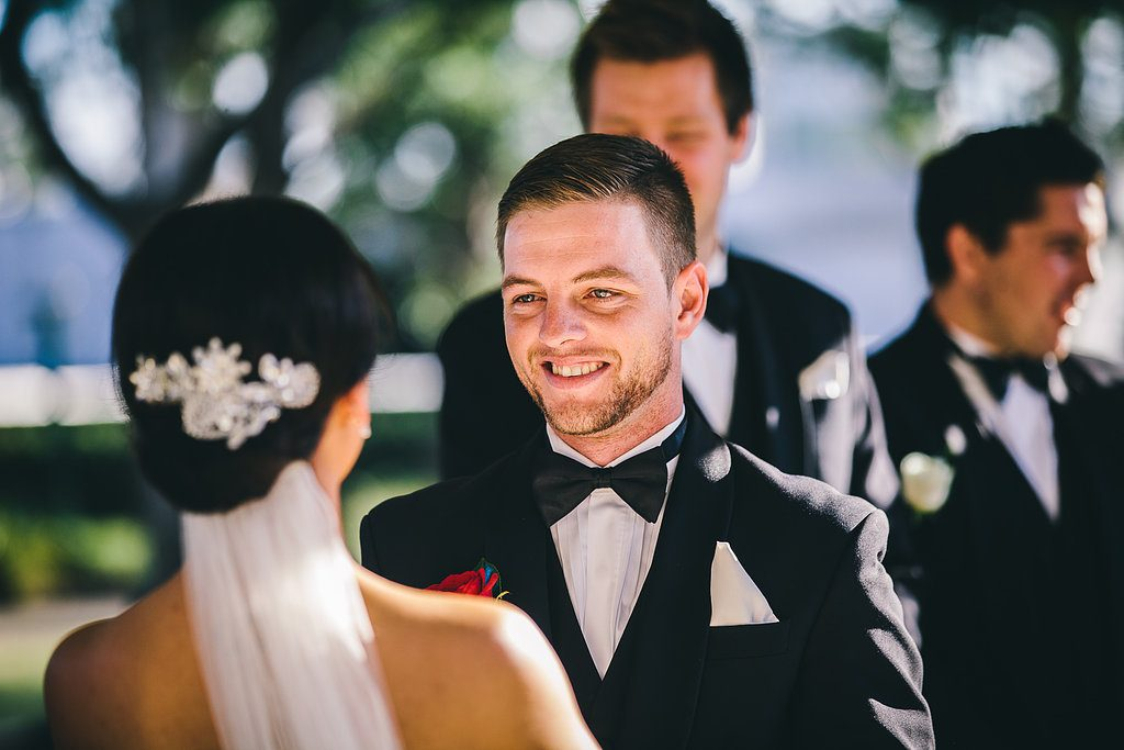 Groom at the wedding ceremony