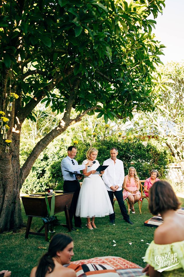 Garden Wedding Ceremony with Jamie10