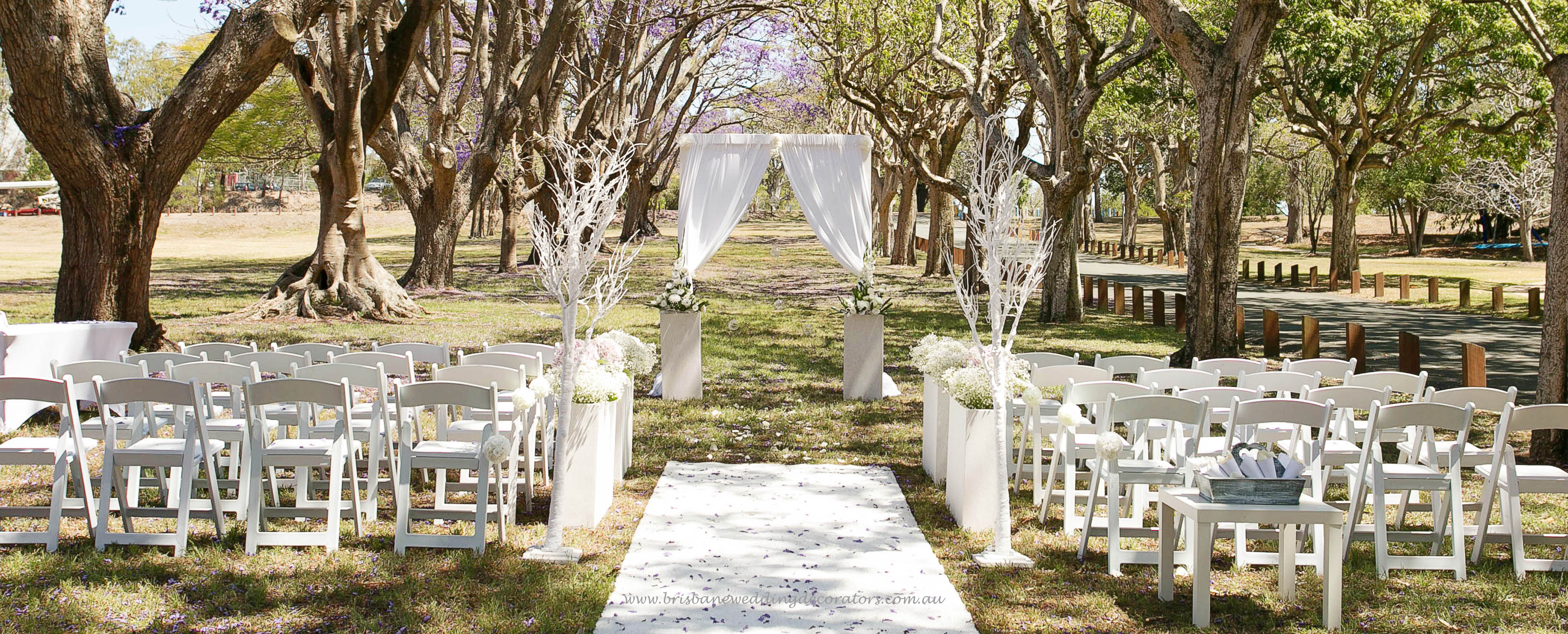 Brisbane Wedding Ceremony Set Up By Decorators