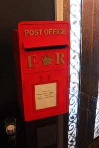 wedding letterbox at mirra bar wedding