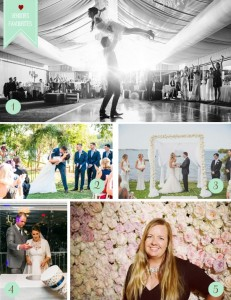 Favourite wedding moments