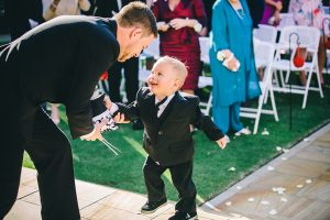The cute little ring bearer