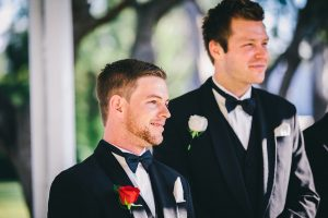 That magical moment when the groom sees his beautiful bride