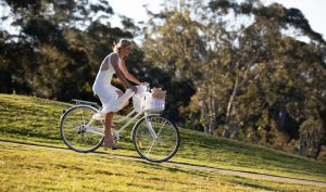 cycling bride