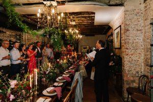 1889 Enoteca wedding ceremony