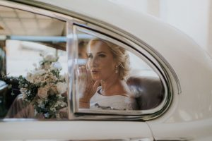 Jaguar classic wedding car