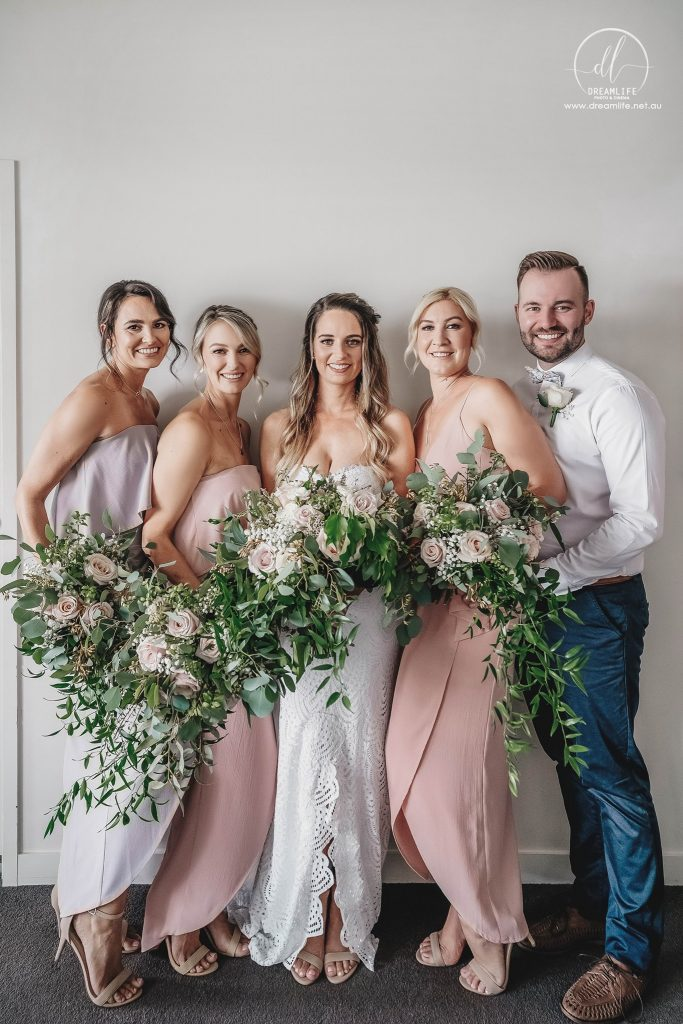 Victoria park bridal party