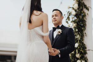 Victoria Park wedding ceremony Marquee