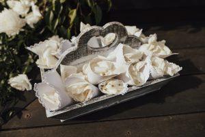 wedding rose petal cones Brisbane