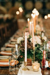 Winter wedding reception styling Brisbane