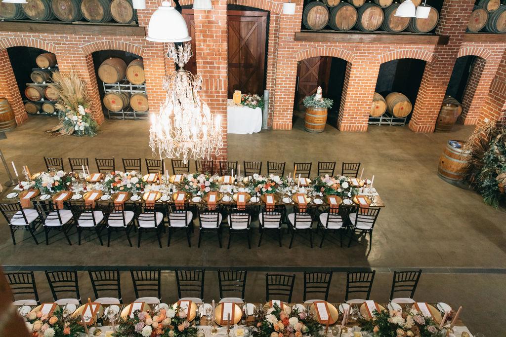 Winter wedding reception Brisbane
